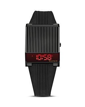 Computron Archive Black Rubber Strap Watch