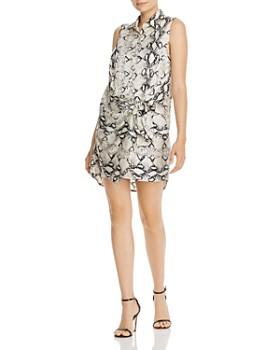 AQUA - Snakeskin Wrap-Style Sheath Dress - 100% Exclusive