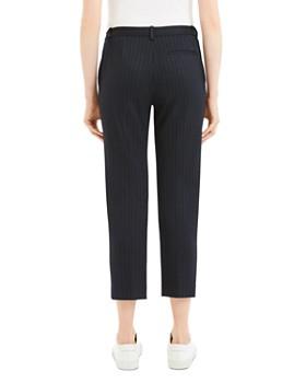 Theory - Tonal-Stripe Cropped Pants
