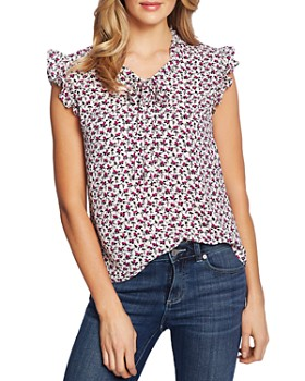 CeCe - Ditsy Floral Ruffle Top