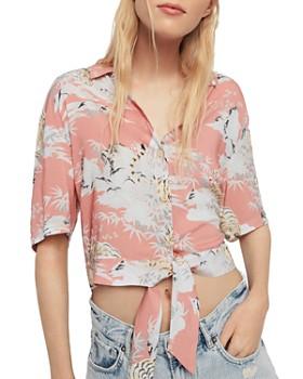 ALLSAINTS - Leni Borneo Cropped Camp Shirt
