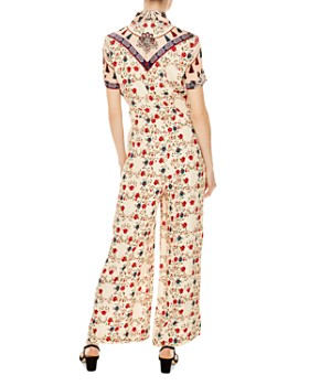 Sandro - Delfine Mixed Floral & Tassel-Print Jumpsuit
