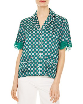 f34b1e42566cd9 Sandro Women's Tops: Graphic Tees, T-Shirts & More - Bloomingdale's