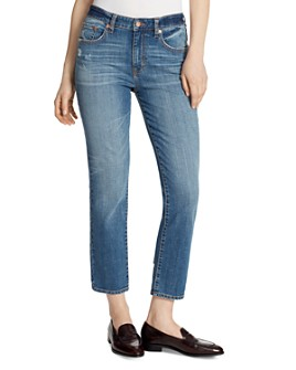 Ella Moss - High-Rise Slim Straight Ankle Jeans in McKinney