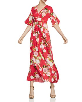 BCBGMAXAZRIA - Rose Bloom Kimono Maxi Dress