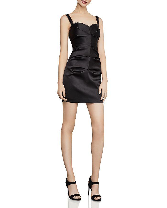 BCBGMAXAZRIA - Satin Mini Sheath Dress