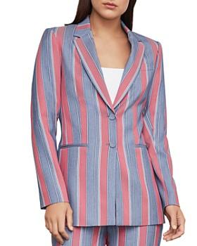 BCBGMAXAZRIA - Striped Single-Breasted Blazer