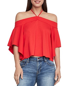 BCBGMAXAZRIA - Off-the-Shoulder Cropped Top