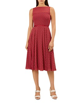 HOBBS LONDON - Della Sleeveless Dot-Print Dress