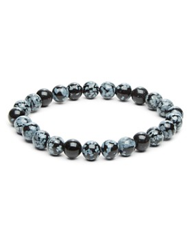 LINK UP - Obsidian Stretch Bracelet