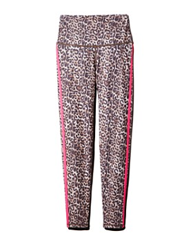 Wear It To Heart - Side-Stripe Leopard Print Leggings