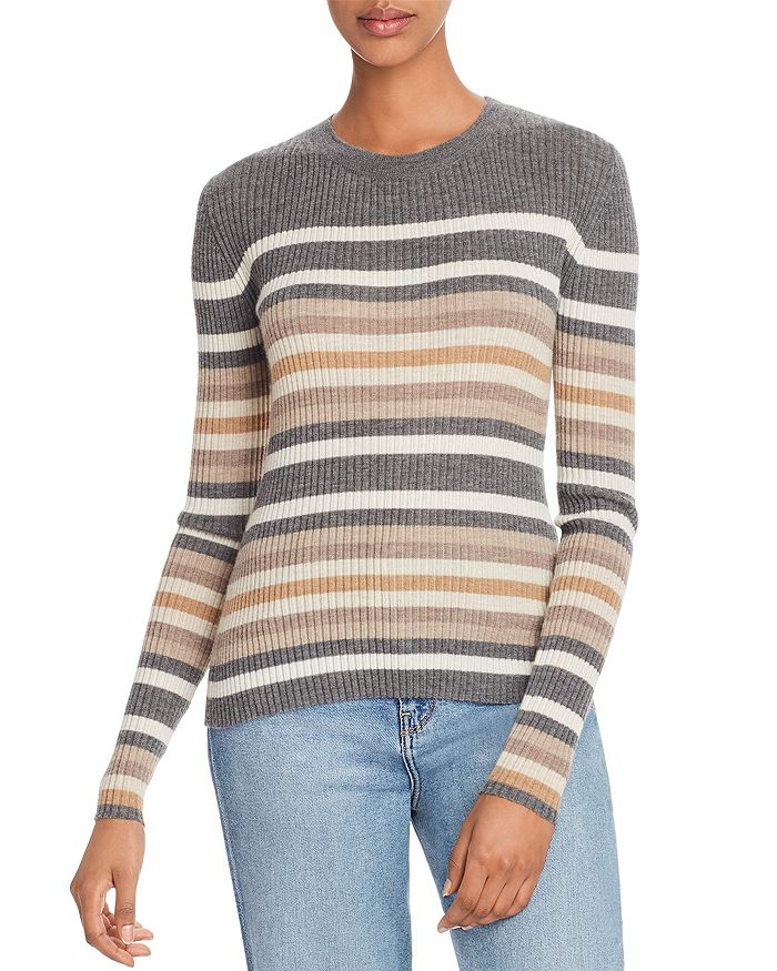Theory - Striped Cashmere Sweater