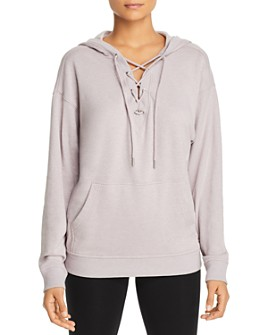 Marc New York - Lace-Up Terry Hoodie