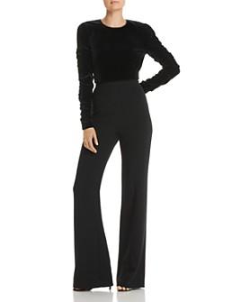Black Halo - Adela Convertible Velvet Jumpsuit