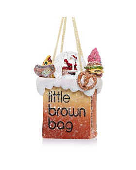 Bloomingdale's - Little Brown Bag Santa Snowglobe Ornament - 100% Exclusive