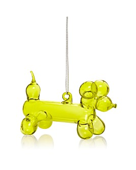 Bloomingdale's - Balloon Dog Glass Ornament - 100% Exclusive