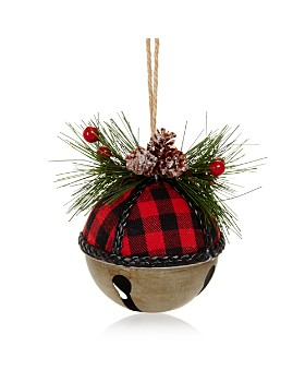 Bloomingdale's - Plaid Trimmed Jingle Bell Ornament - 100% Exclusive