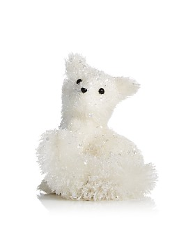 Bloomingdale's - Glitter White Fox Figurine - 100% Exclusive