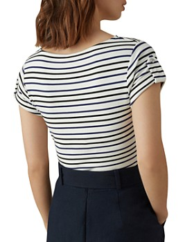 KAREN MILLEN - Striped Snap Tee