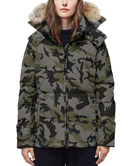 Canada Goose - Chelsea Fur-Trim Camouflage Print Down Parka