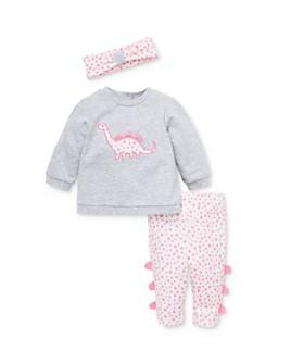 Little Me - Girls' Dino Sweatshirt, Leggings & Headband Set - Baby