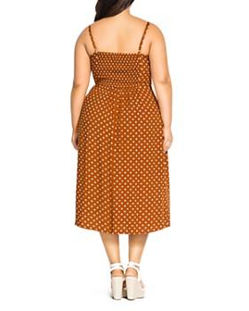City Chic Plus - Cheeky Dot-Print Knot-Front Dress