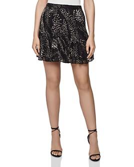 REISS - Emily Spot Mini Skirt