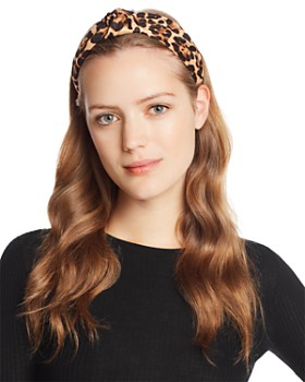 AQUA - Twist Leopard Print Headband - 100% Exclusive