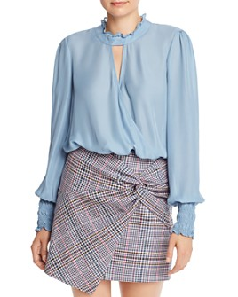 Parker - Sammi Ruffled Faux-Wrap Blouse
