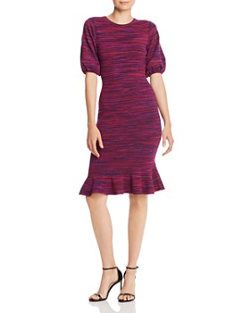 MILLY - Space-Dye Puff-Sleeve Dress