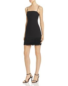 LIKELY - Melly Fringed-Hem Mini Dress