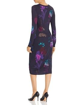 BOSS - Esetta Ruched Floral-Print Dress