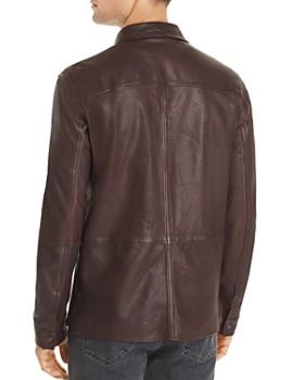 John Varvatos Star USA - Leather Shirt Jacket