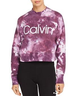 Calvin Klein - Tie-Dye Fleece Cropped Sweatshirt