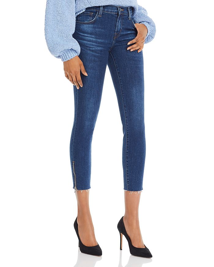835 Mid-Rise Cropped Skinny Jeans in Zip Austin