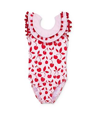 Livly Girls' Celine Cherry Print One-Piece Swimsuit - Baby