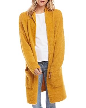Karen Kane Fuzzy Hooded Cardigan