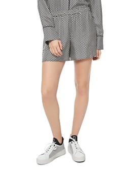 MICHAEL Michael Kors - Logo Checkerboard Pajama-Style Silk Mini Shorts