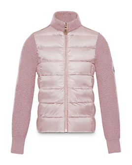 Moncler - Girls' Mixed-Media Puffer Jacket - Big Kid