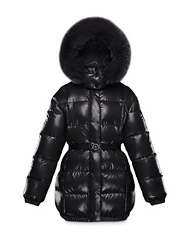 Moncler - Girls' Parana Fur-Trimmed Puffer Jacket - Big Kid