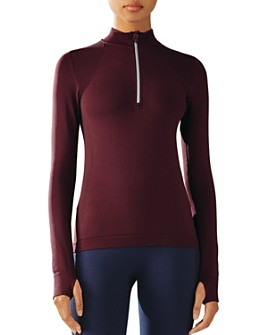 Tory Sport - Quarter-Zip Seamless Top