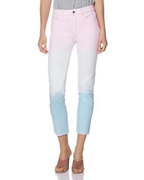 PAIGE - Hoxton Slim Jeans in Sunset Ombré