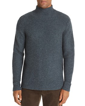 The Men's Store at Bloomingdale's - Funnel-Neck Fisherman-Rib Sweater - 100% Exclusive