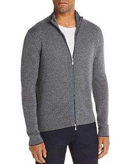 The Men's Store at Bloomingdale's - Front-Zip Merino Wool Cardigan - 100% Exclusive