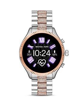 Michael Kors - Lexington 2 Two-Tone Pavé Link Bracelet Touchscreen Smartwatch, 44mm