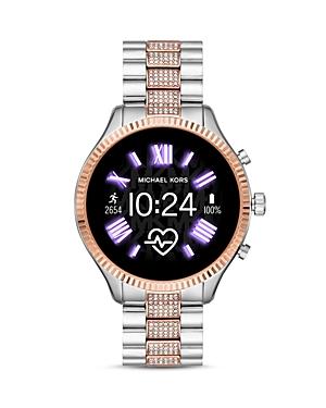 Michael Kors Lexington 2 Two-Tone Pave Link Bracelet Touchscreen Smartwatch, 44mm