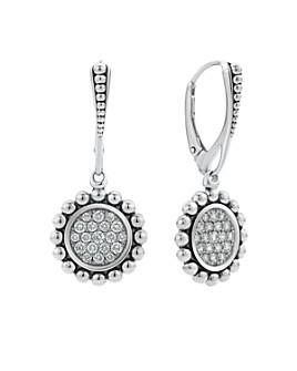 LAGOS - Sterling Silver Caviar Spark Diamond Drop Earrings