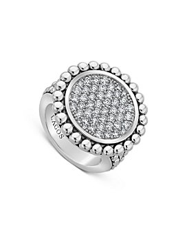 LAGOS - Sterling Silver Caviar Spark Pavé Diamond Ring