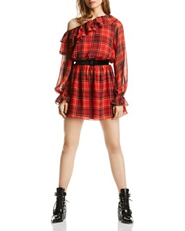 LINI - Melanie One-Shoulder Plaid Dress - 100% Exclusive
