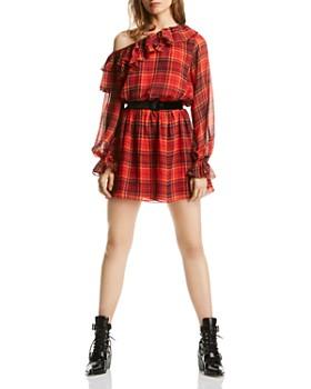 LINI - Melanie One-Shoulder Plaid Dress - 100% Exclusive